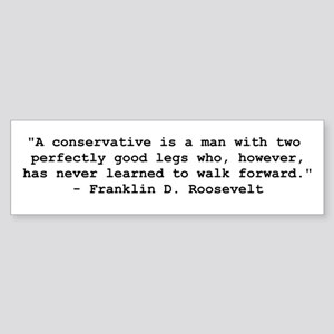 FDR Definition of Conservative Sticker (Bumper)